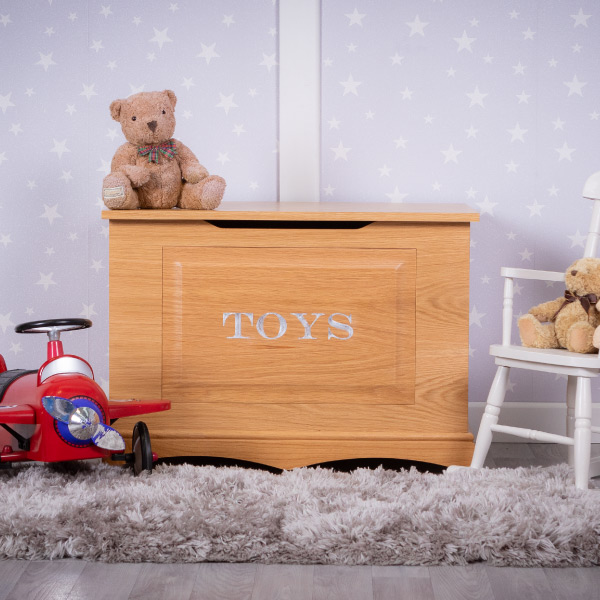 Personalised Oak Toy Box