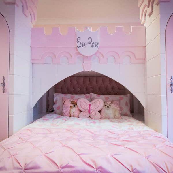 Princess Castle Bed Front
