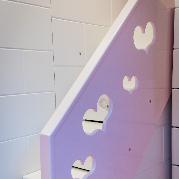 Princess Castle Bed Stairs