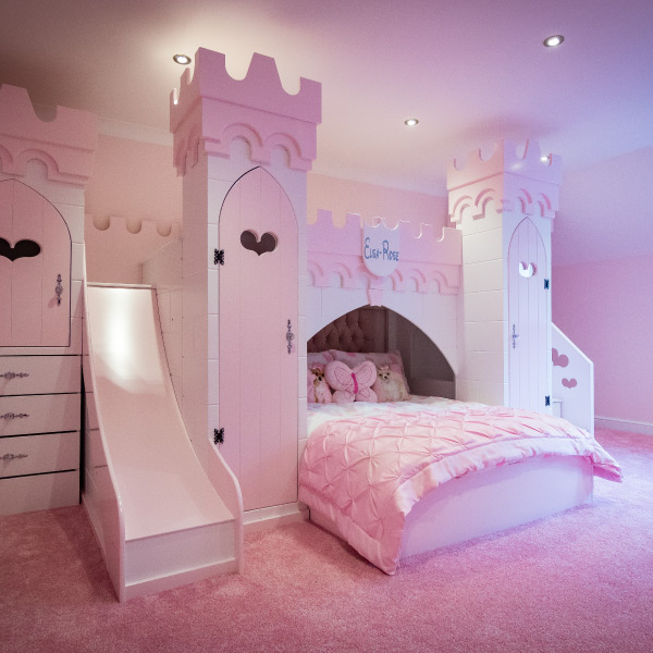 Princess Castle Bed with Slide