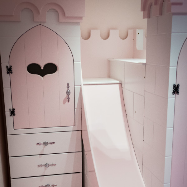 Princess Castle Wardrobe and drawers
