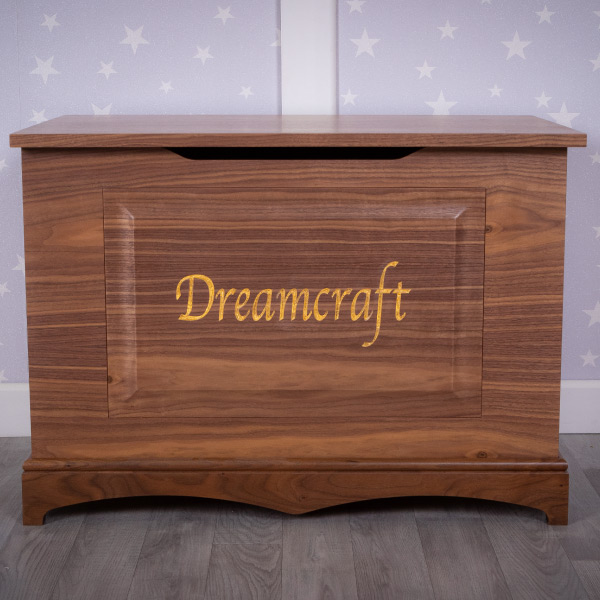 personalised walnut toy box