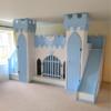 Blue castle bed