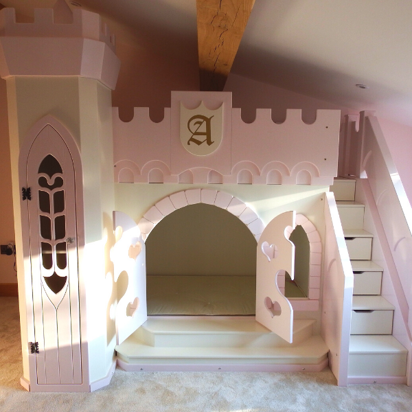 Princess themed castle bed