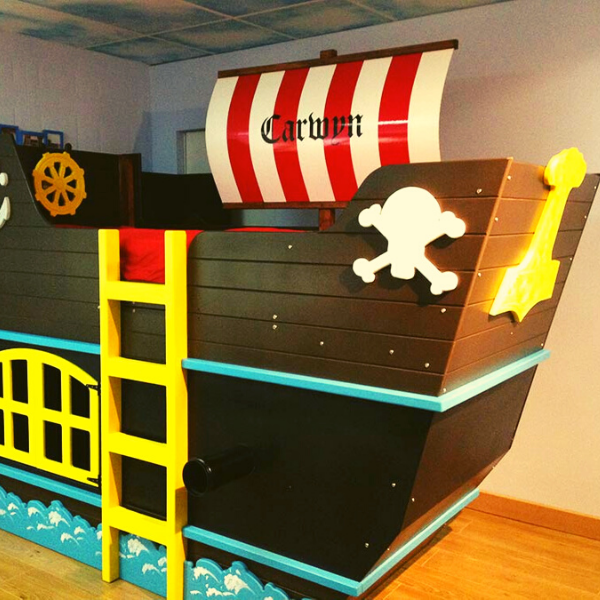 Pirate ship children's bed
