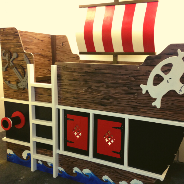 Pirate themed bed